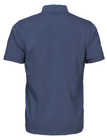 Amherst Mens Polo in 555 Faded Blue (Back View)