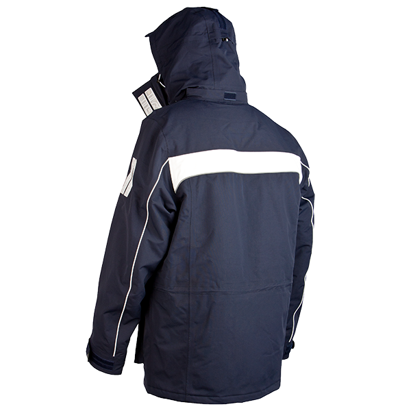 Wind & waterproof Cape Horn Jacket in 600 Navy (Back View)