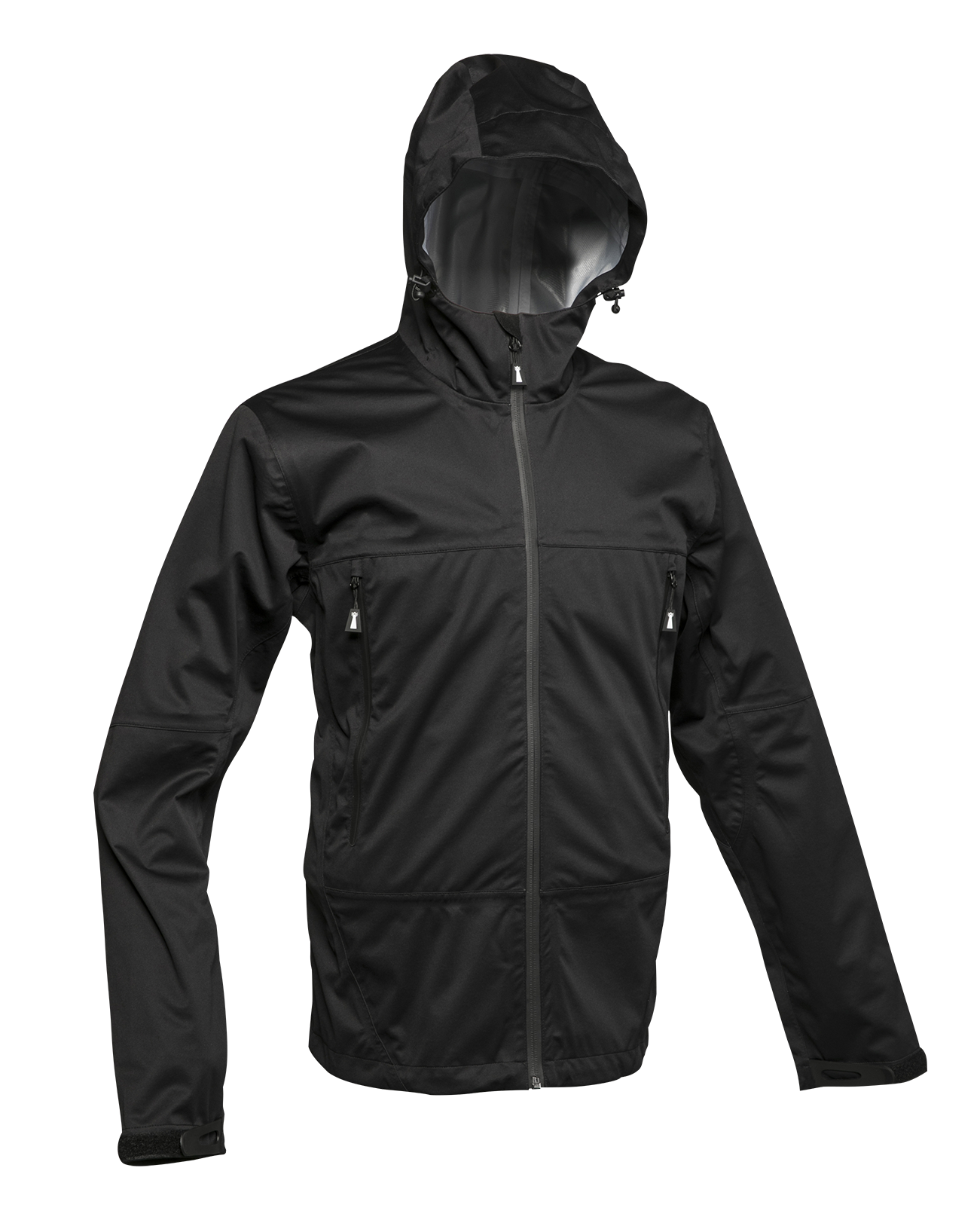 Beacon Unisex Wind and Waterproof 3-Layers Shell Jacket in Black