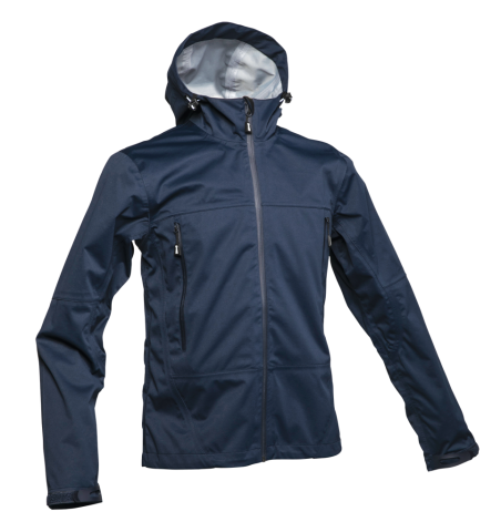 Beacon Unisex Wind and Waterproof 3-Layers Shell Jacket in Navy