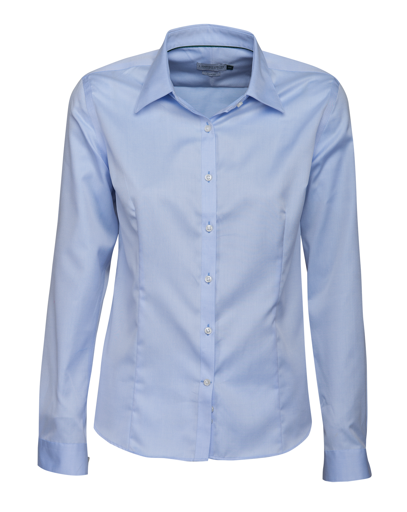 J.H and Frost Green Bow 01 Ladies Shirt in Sky Blue