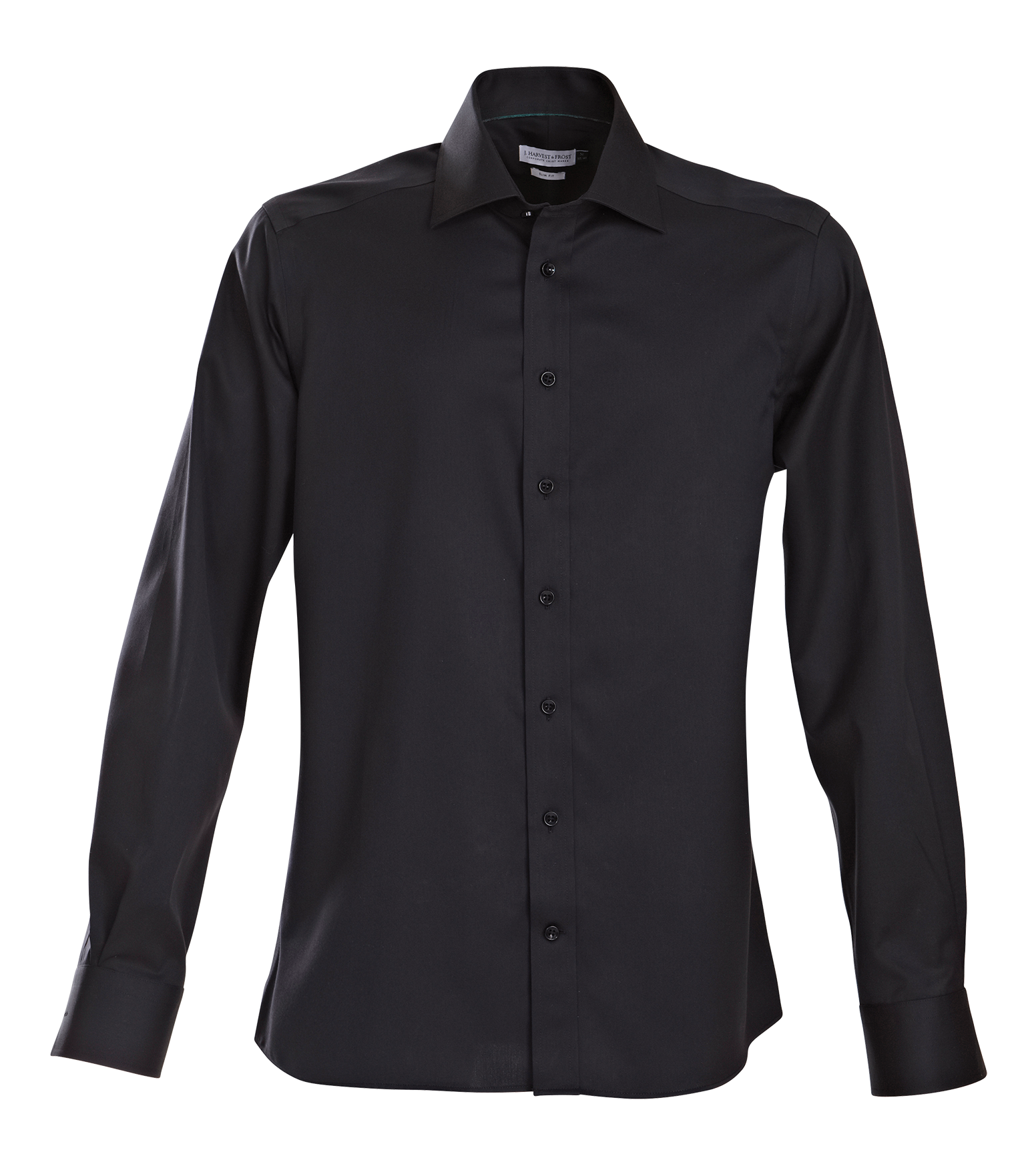 J.H & Frost Green Bow 01 Mens Shirt in Black