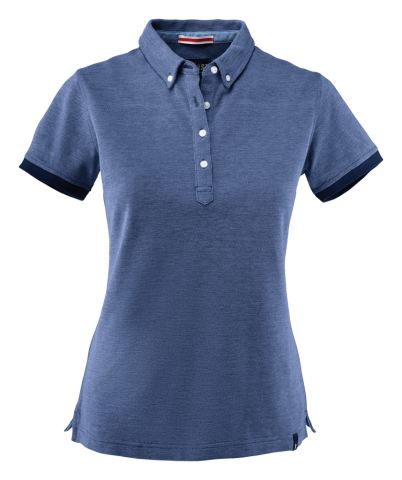 Larkford Lady Polo in Blue Melange