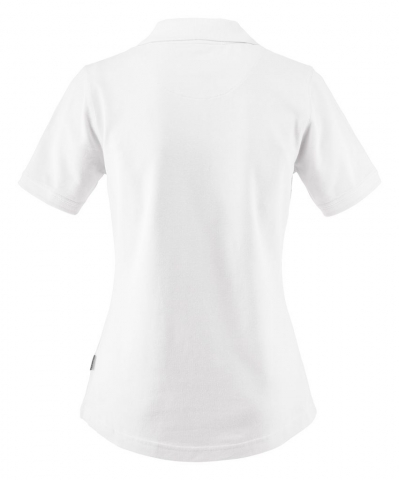 Ladies Albatross Polo in White Back View