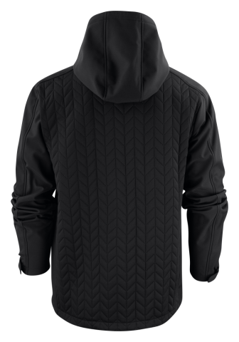Mens Myers Hybrid Jacket in 900 Black Back View