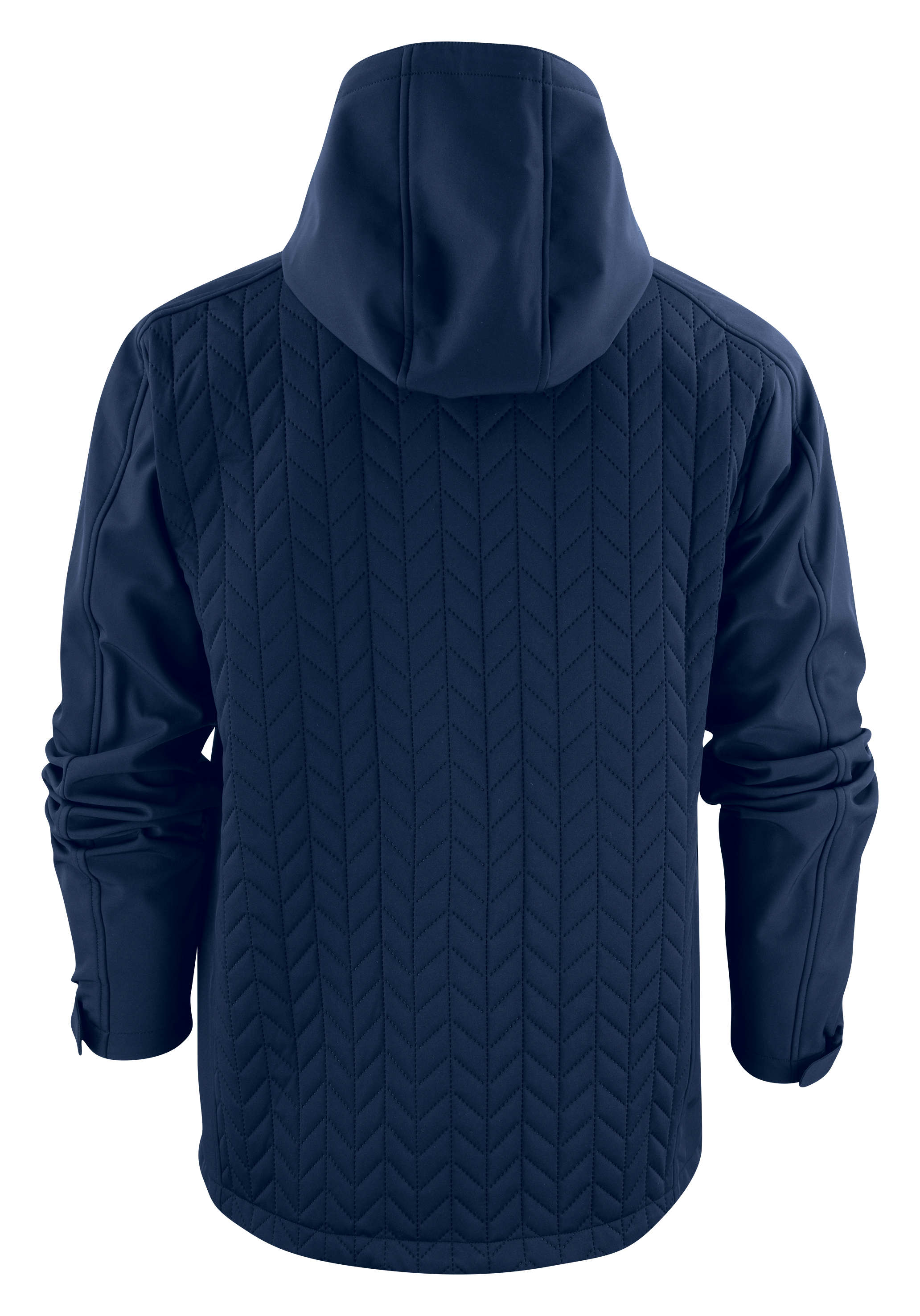 Mens Myers Hybrid Jacket in 600 Navy Back View
