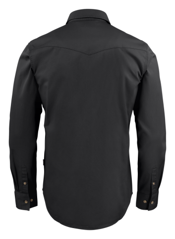 Unisex Treemore Shirt in 900 Black (Back View)