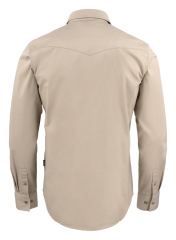 Unisex Treemore Shirt in 175 Sand (Back View)