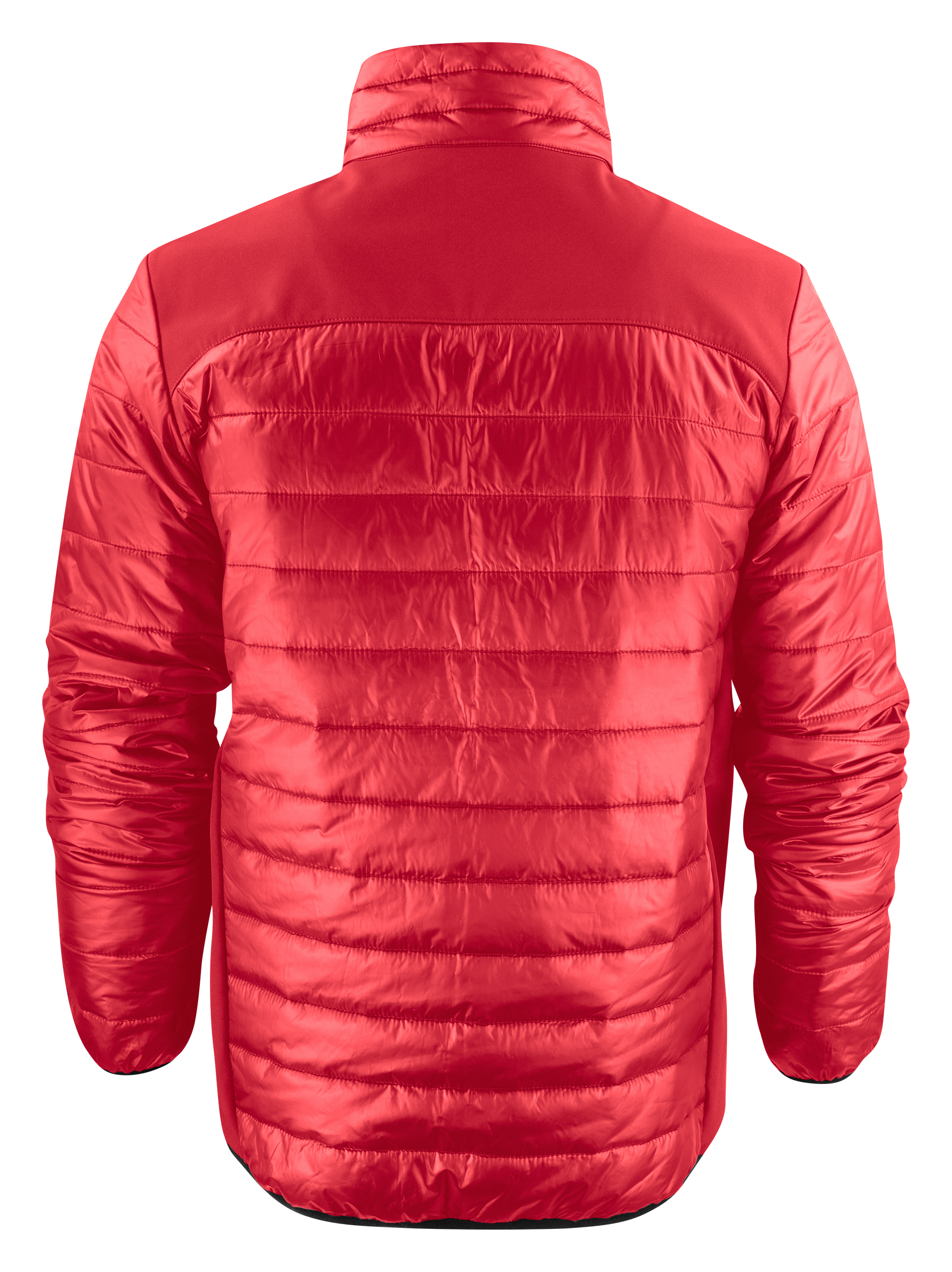 Back View: Unisex Expedition Jacket in Red