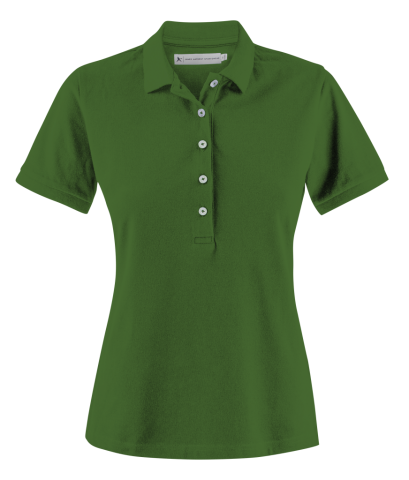 Sunset Woman Polo in Sports Green