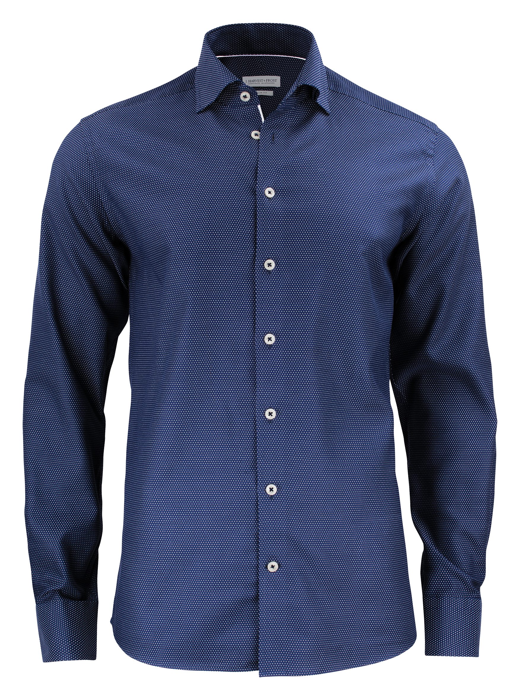 Mens Purple Bow 49 Shirt in Navy